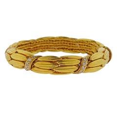 Lalaounis Greece Diamond Gold Bracelet
