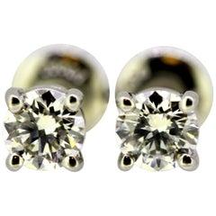 Tiffany & Co. Ladies platinum stud earrings with diamonds, London, 2012