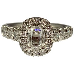 Martin Flyer Promise Cut 1.45 Carat Total Weight Platinum Diamond Ring