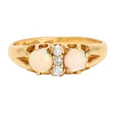 Late Victorian Opal Diamond Ring