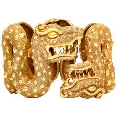 David Webb Two Dragon Cuff Bracelet