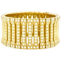 Spectacular Diamond Set Gold Bracelet