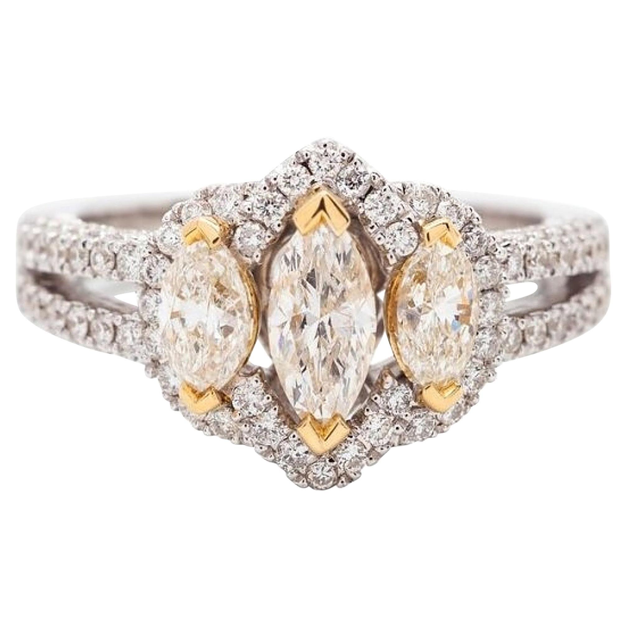 White Gold and Diamond Ring, 18 Karat