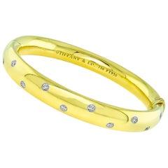Tiffany & Co. Diamond Gold Etoile Bangle