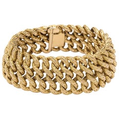 Boucheron 1960s Textured Gold Bracelet