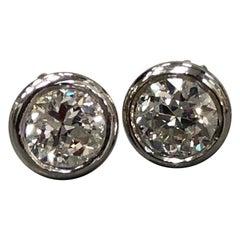 1.04 Carat Diamond Stud Earrings