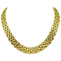 Cartier Gold Panther Link Necklace
