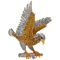 American Bald Eagle 18 Karat Gold Brooch