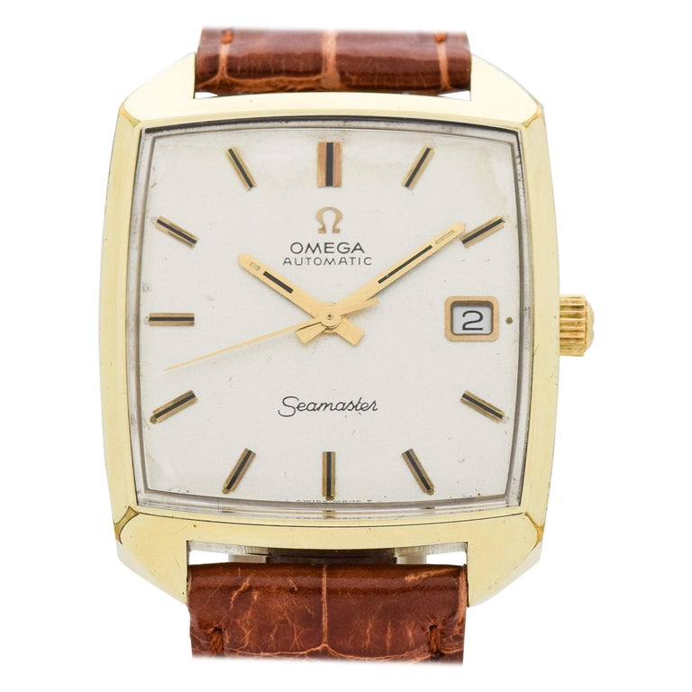 5cc2b262858 Vintage Omega Seamaster Square-Shaped 18 Karat Yellow Gold-Plated Watch