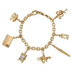 Cartier 18 Karat Gold Charm Bracelet