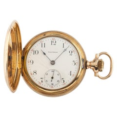 Waltham Full Hunter 14 Karat Gold Antique Pocket Watch Grade 620 15J 16S 1899