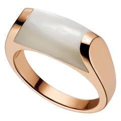 Bulgari MVSA Mother of Pearl Ring 18 Karat Rose Gold