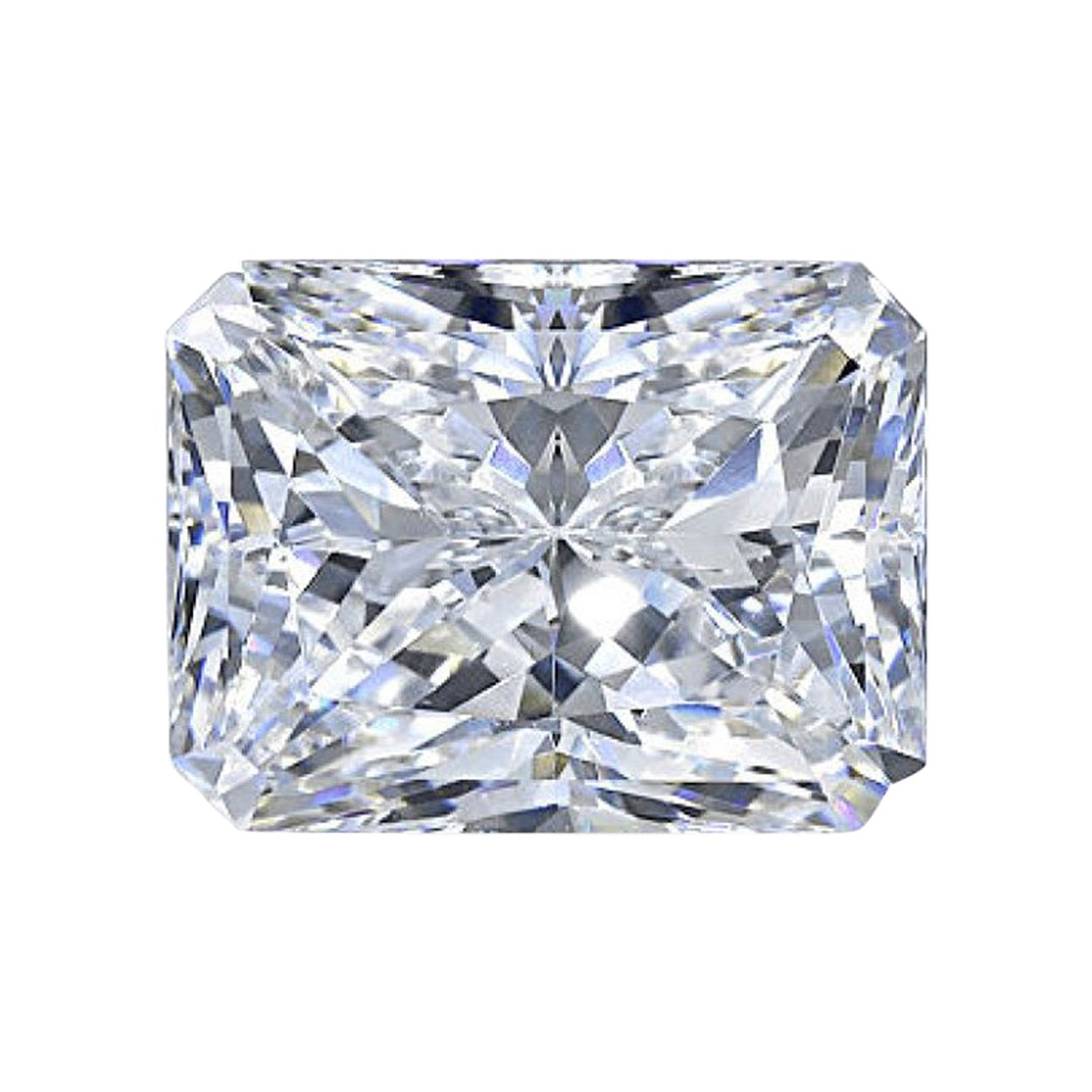 GIA Certified Radiant Cut Diamond 5.05 Carat F/VS2