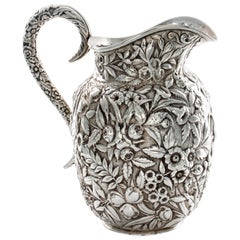 Kirk Repousse Sterling Floral Pitcher 1868-1890