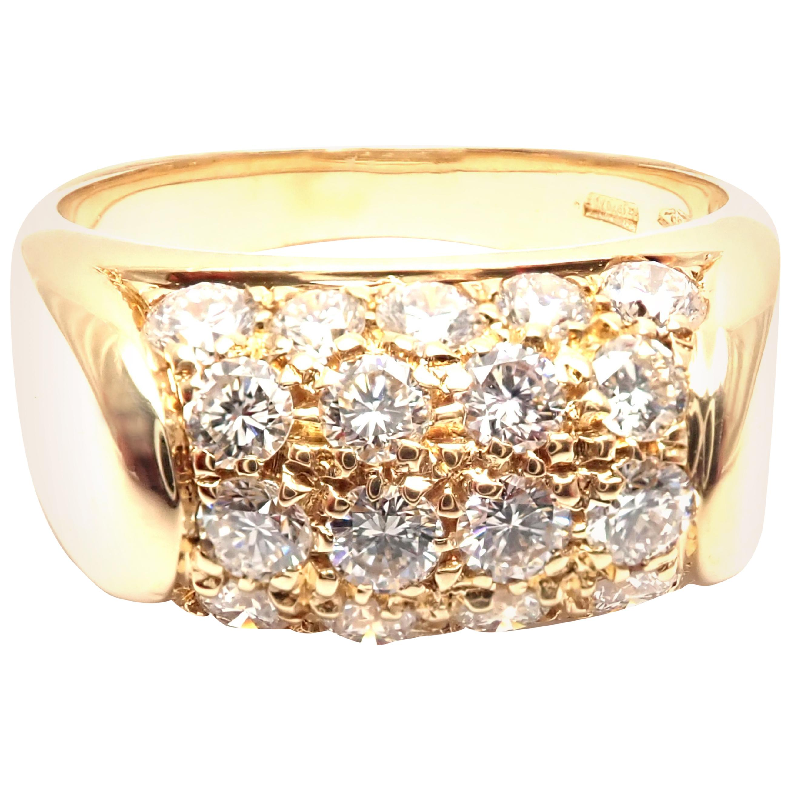 Bulgari Tronchetto Diamond Yellow Gold Band Ring
