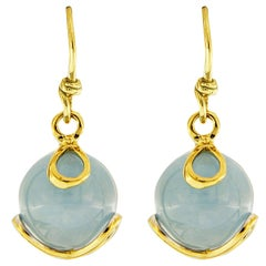 Valentin Magro Carina Aquamarine Ball Earrings in Yellow Gold
