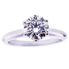 Tiffany & Co. 1.29 Carat Diamond Solitaire Engagement Ring