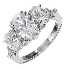 Peter Suchy GIA Certified 3.71 Carat Oval Diamond Platinum Engagement Ring