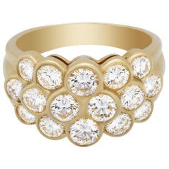 Van Cleef & Arpels 18 Karat Yellow Gold Pavé Diamond Ring