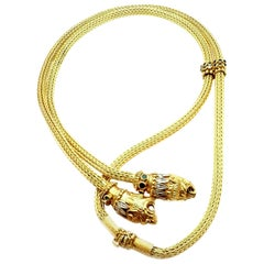 Ilias Lalaounis Chimera Diamond Sapphire Emerald Ruby Long Lariat Necklace