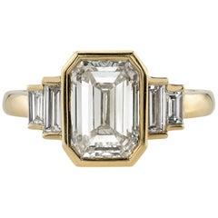 1.51 Carat EGL Certified Emerald Cut Diamond Ring