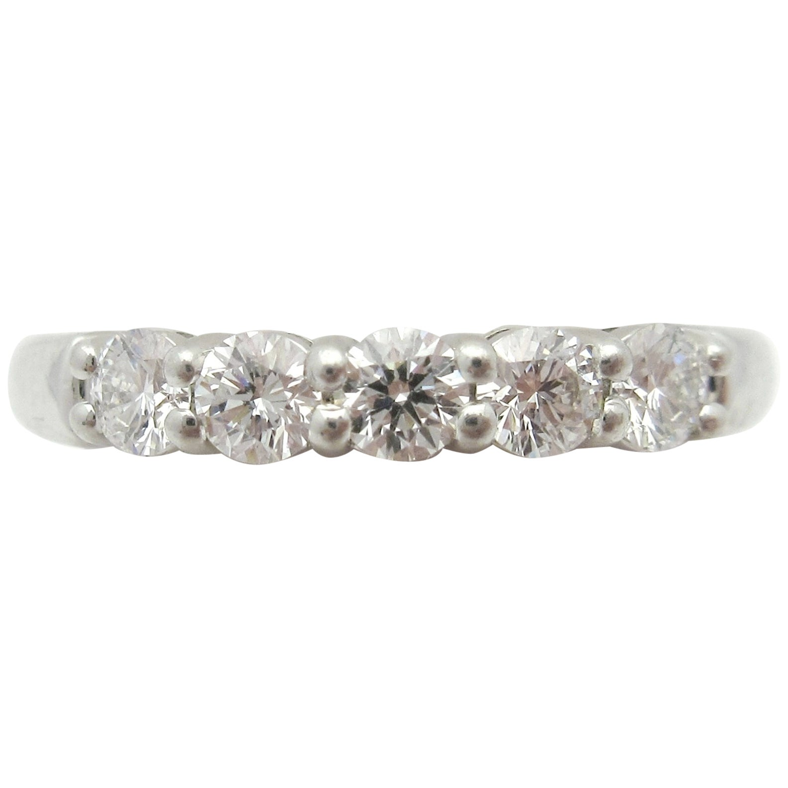 04408b83d Estate Tiffany and Co. Embrace Five-Stone Diamond Wedding Band Platinum For  Sale at 1stdibs