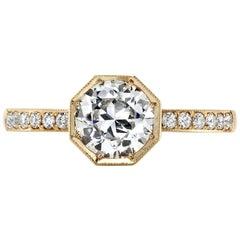 0.92 Carat GIA Certified Old European Cut Diamond Ring