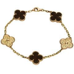 Van Cleef & Arpels Alhambra Rosewood Rose Gold 5 Motif Bracelet