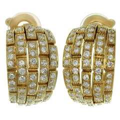 Panthere de Cartier Diamond Yellow Gold Wrap Earrings