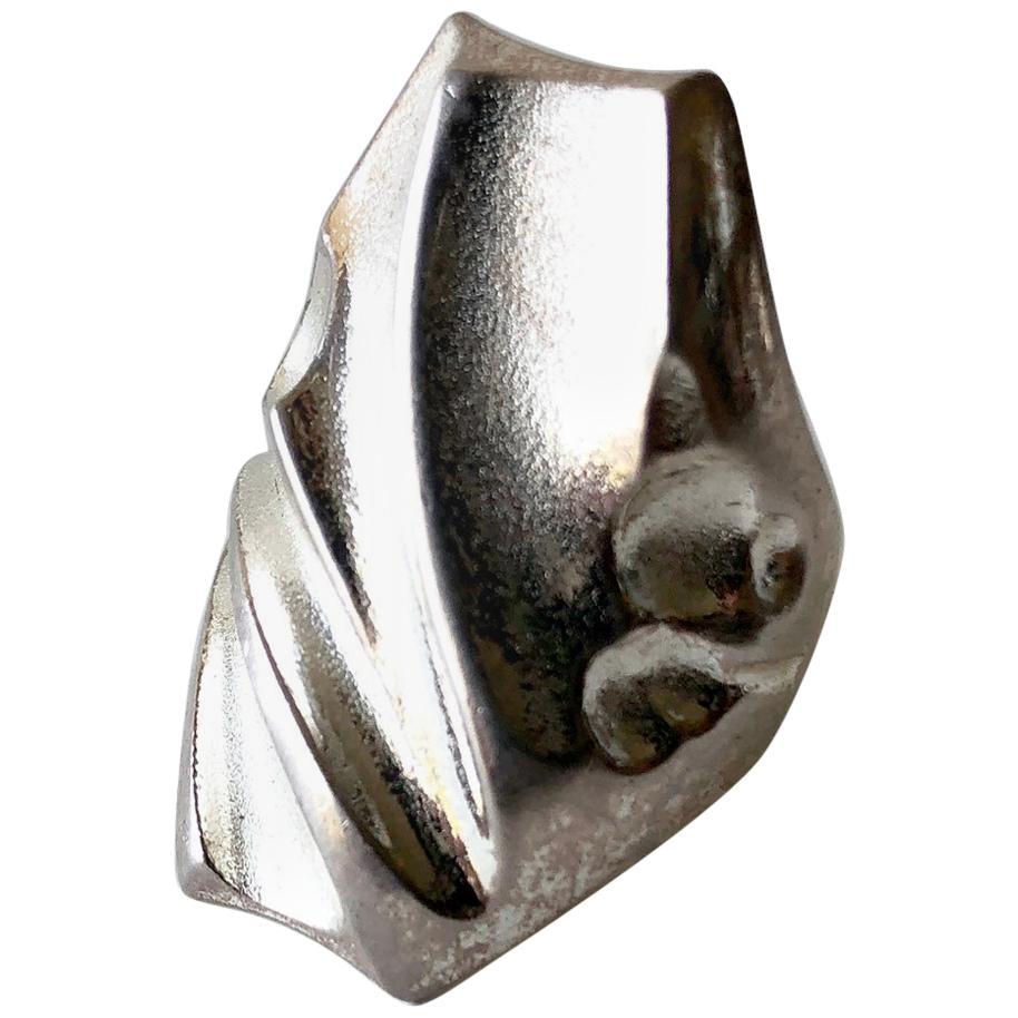 Bjorn Weckstrom Lapponia Sterling Silver Finnish Space Age Ring