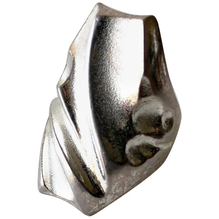 Bjorn Weckstrom Lapponia Sterling Silver Finnish Space Age Ring For Sale