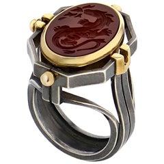 Chevalière Ring Feu by Elie Top