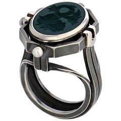Chevalière Ring Eau by Elie Top