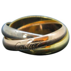 Cartier Trinity Three-Color Yellow White Rose Gold Rolling Ring