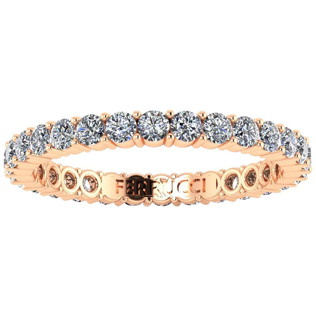 1.00 Carat White Diamonds Stackable Eternity Ring 18 Karat Rose Gold