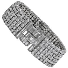 Van Cleef & Arpels Six-Row Diamond Platinum Bracelet