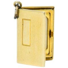 Art Nouveau 14 Karat Gold Lord's Prayer Book Charm