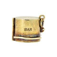Unique Art Nouveau 14 Karat Gold Wonder Bar Charm