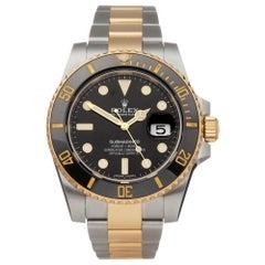 Rolex Submariner Stainless Steel and 18 Karat Yellow Gold 116613LN Wristwatch
