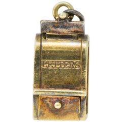 Art Nouveau 14 Karat Gold Mailbox Charm