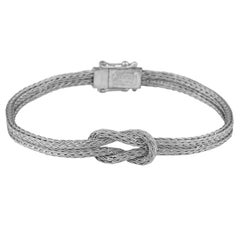 Georgios Collections 18 Karat White Gold Woven Hercules Knot Bracelet