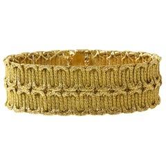 1970s Yellow Gold Braided Bracelet