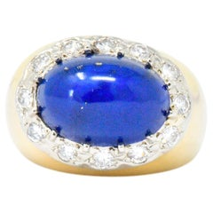 Tiffany & Co. Diamond Lapis Lazuli 18 Karat Gold Cocktail Ring