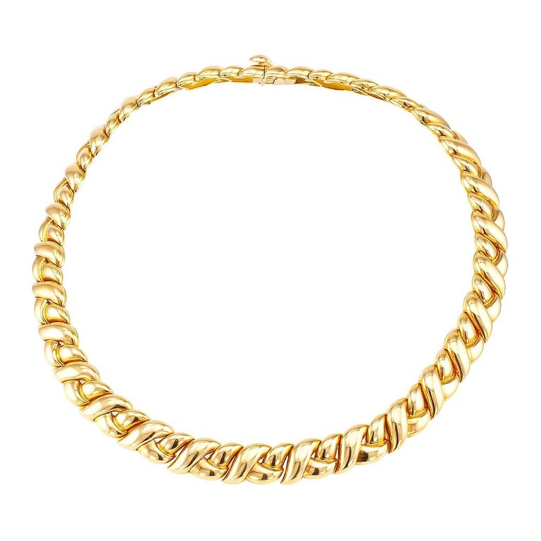 Van Cleef & Arpels Gold Necklace For Sale