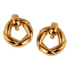 Cartier Vintage Gold Hoop Earrings