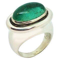 Tiffany & Co. Paloma Picasso Large Emerald and Silver Ring