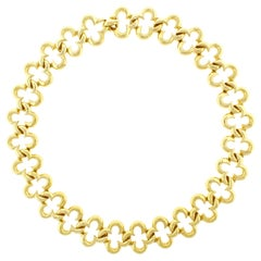 Jean Vitau Open Alhambra Gold Necklace