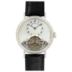Breguet White Gold Diamond Tourbillon Watch Ref. 3358