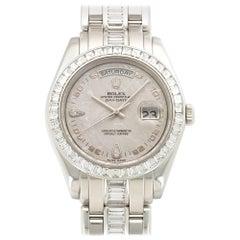 Rolex Platinum Day-Date Masterpiece Baguette Diamond