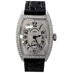Frank Muller Geneve 1752 S6 D 18 Karat White Gold Diamond Ladies Watch